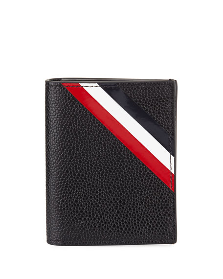 Diagonal Stripe Double Card Holder
