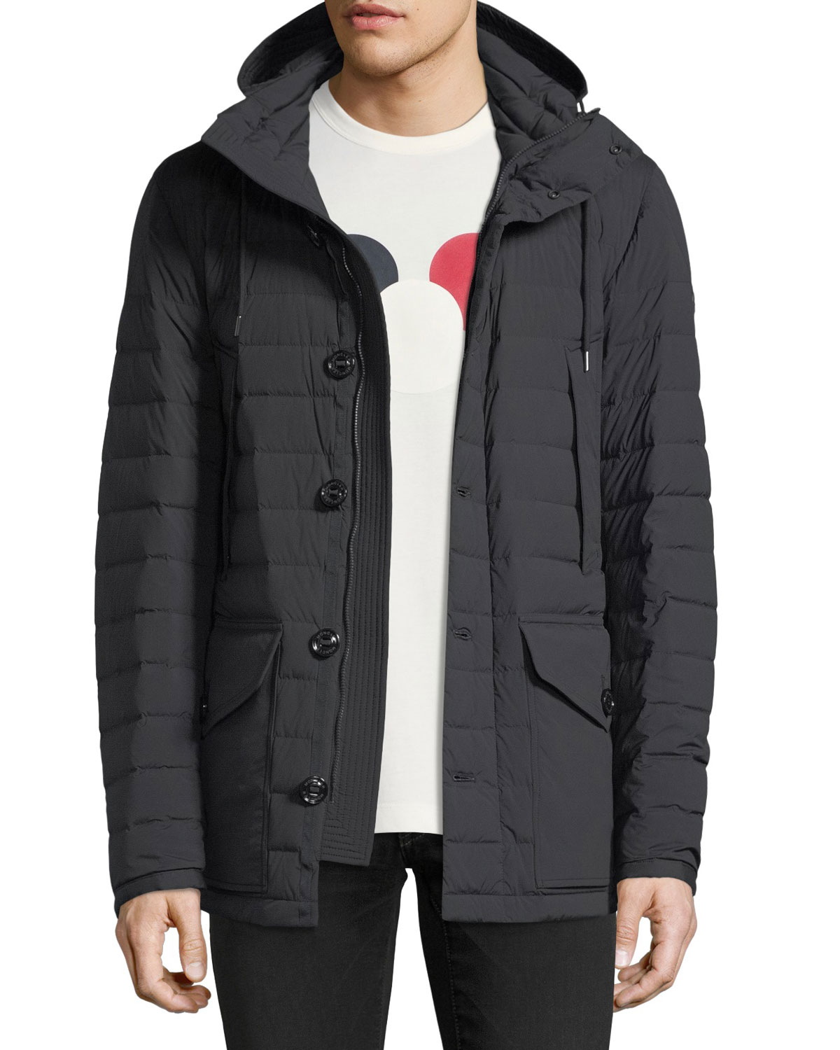 45b4a6479842 Moncler Hooded Jacket   Neiman Marcus