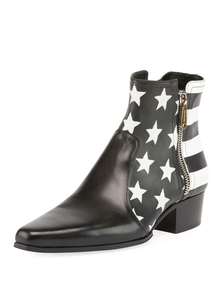Stars and Stripes Leather Boot