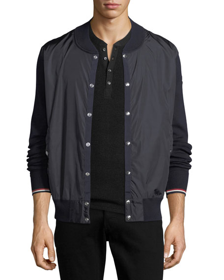 Moncler Maglia Tricot Snap-Front Cardigan