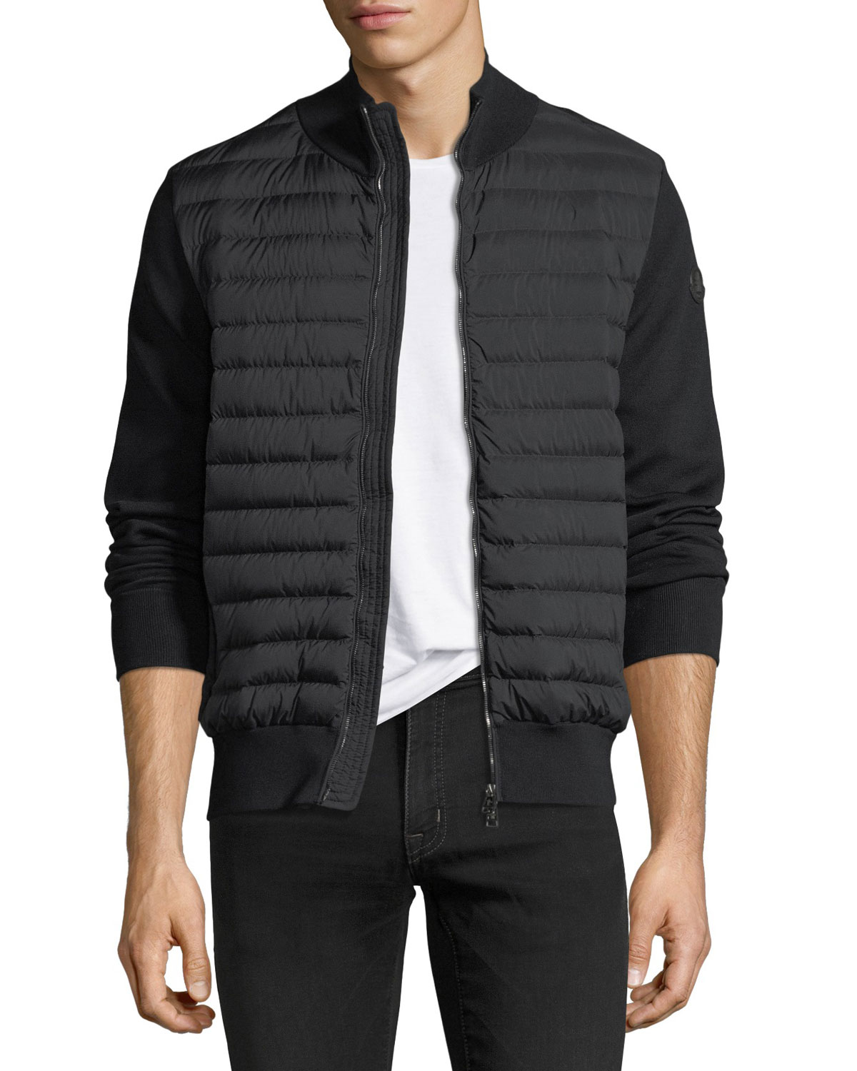 Moncler Maglia Tricot Zip-Front Cardigan  00aa5a5f59c