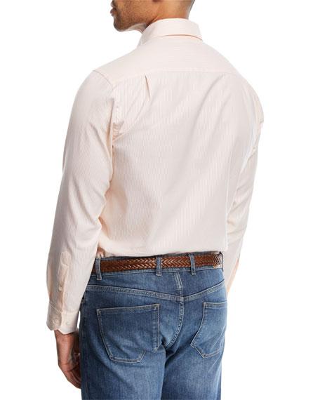 Sunset Stripe Cotton Sport Shirt