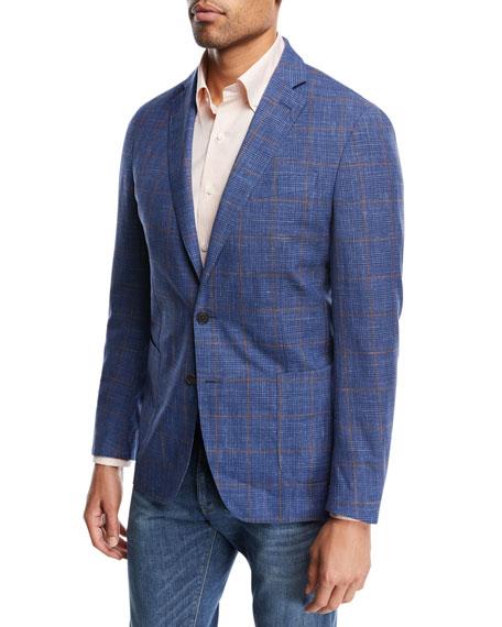 Textured Plaid Soft Jacket