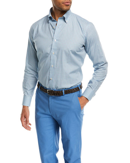 Peter Millar Catamaran Cay Check Sport Shirt