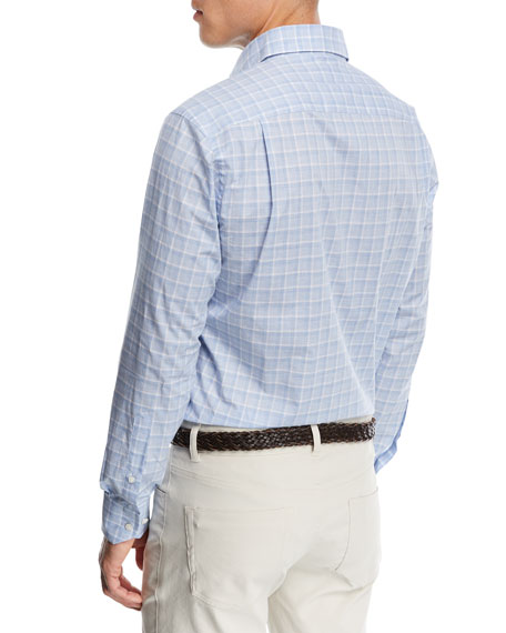Starry Night Check Sport Shirt
