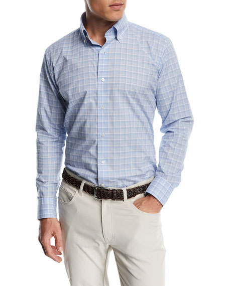 Peter Millar Starry Night Check Sport Shirt