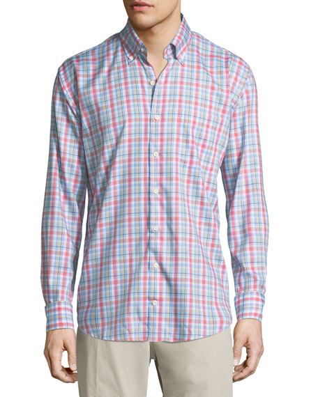 Peter Millar Crown Ease Aloha Plaid Sport Shirt
