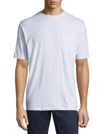 Peter Millar Seaside Striped Pocket T-Shirt