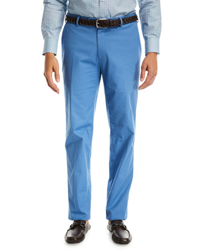 Soft Touch Twill Trousers, Dark Blue