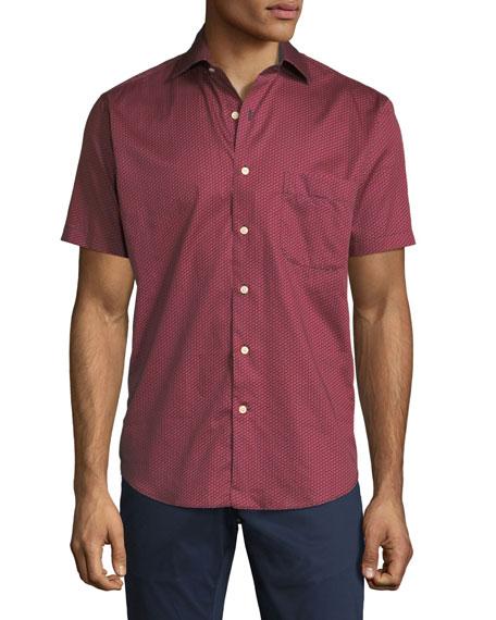 Peter Millar Aloaha Floral Short-Sleeve Sport Shirt