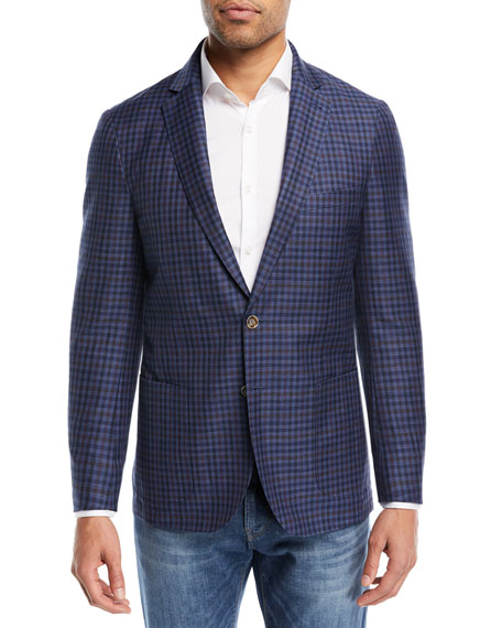 Crown Cool Gingham Soft Jacket, Navy