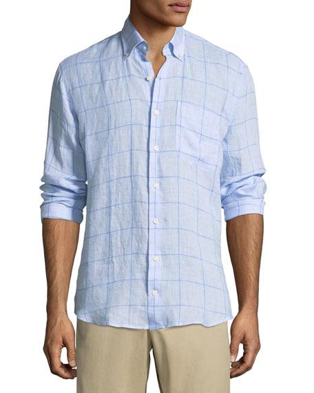 Peter Millar Crown Cool Prairie Check Sport Shirt