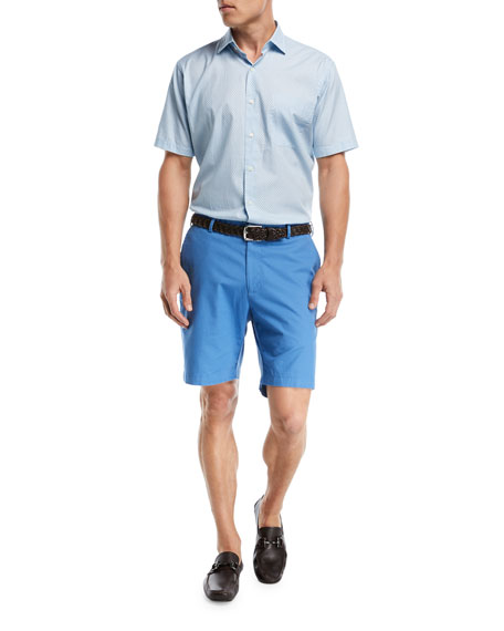 Soft Touch Twill Shorts, Dark Blue