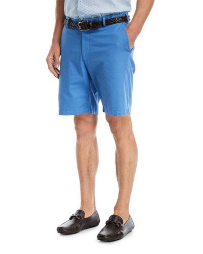 Soft Touch Twill Shorts, Dark Blue