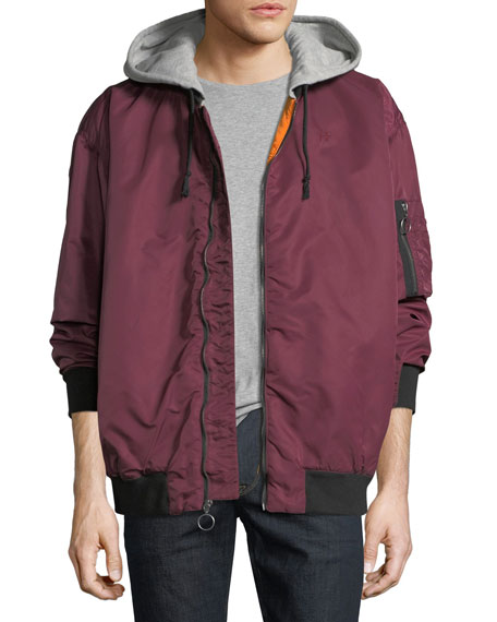 Hudson Men's Hooded Bomber Jacket