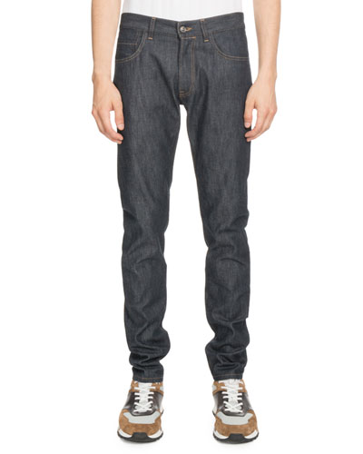 Dark-Wash Denim Jeans