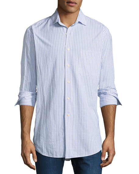 Peter Millar Rockport Striped Sport Shirt