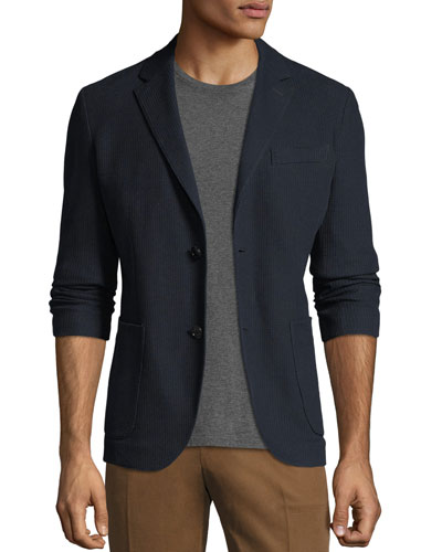 Two-Button Cotton Blazer