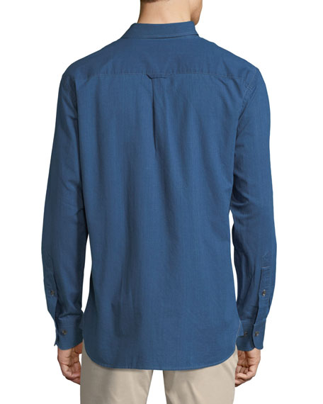 Crown Soft Denim Long-Sleeve Shirt