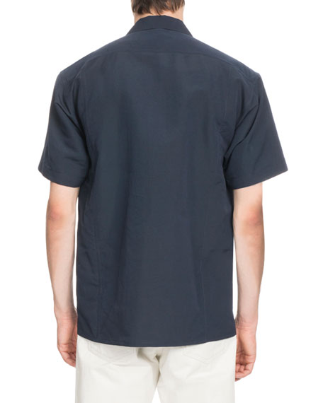 Cotton-Blend Bowling Shirt