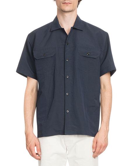 Cotton-Blend Bowling Shirt