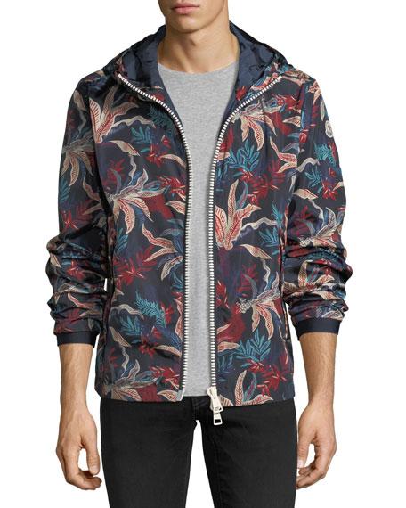 Floral-Print Wind-Resistant Jacket