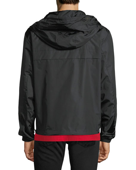 Nylon Jacket w/ Logo Lining Trim