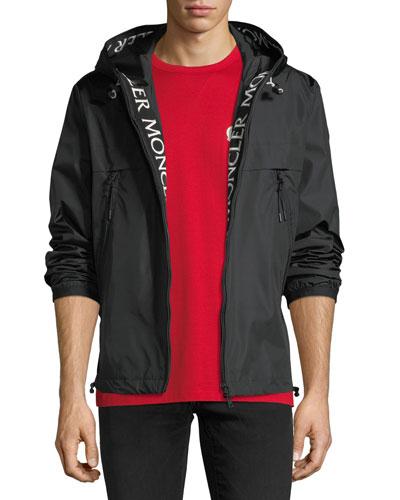 Nylon Jacket w/ Logo Lining Trim
