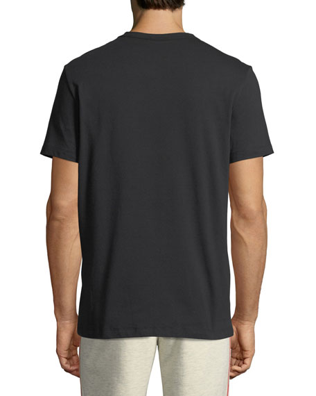 Tonal Camouflage Logo T-Shirt, Black