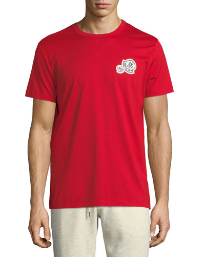 Short-Sleeve T-Shirt with Patches, Red