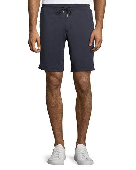 Moncler Cotton Sweat Shorts w/ Logo Taping Sides
