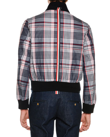 Reversible Ribbed & Check Jacket