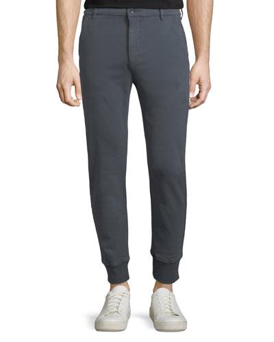 Baxter Chino Jogger Pants, Smoke Blue