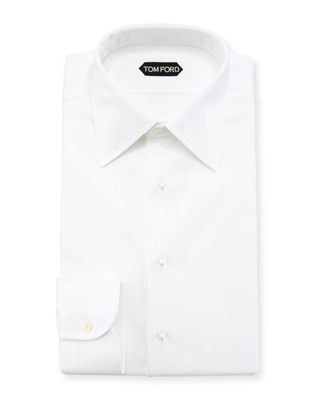 TOM FORD Formal Pique Cotton Dress Shirt
