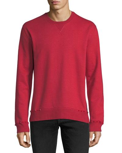 Studded-Trim Jersey Sweatshirt