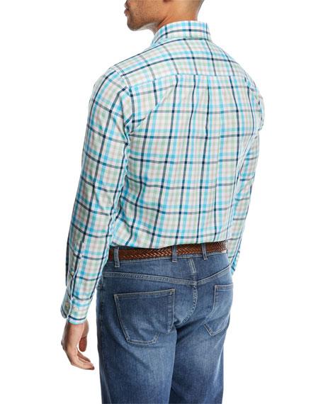 Crown Ease Kohala Check Shirt, Bright Blue