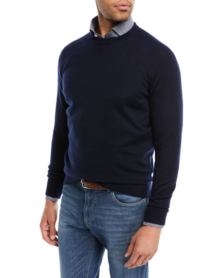 Peter Millar Crown Comfort Cashmere Sweater, Navy