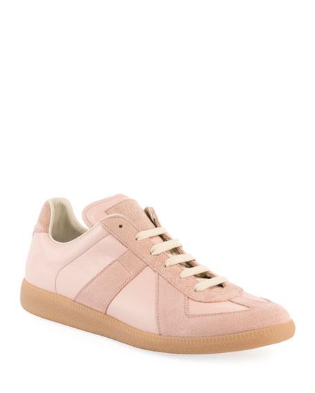 Men's Replica Suede & Leather Low-Top Sneaker