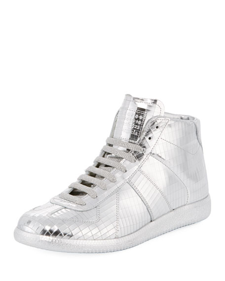 Maison Margiela Men's Disco Replica Mid High-Top Sneakers