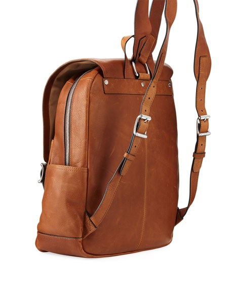 Oliver Leather Buckle Backpack