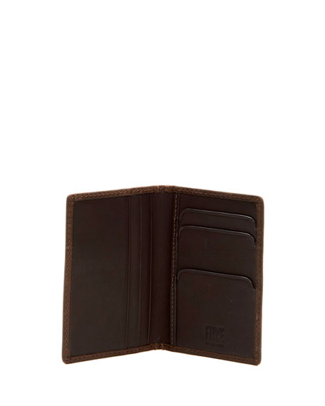 Oliver Tall Leather Bi-Fold Wallet, Brown