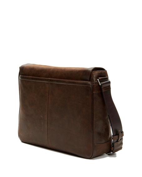 Oliver Men's Leather Messenger Bag, Brown
