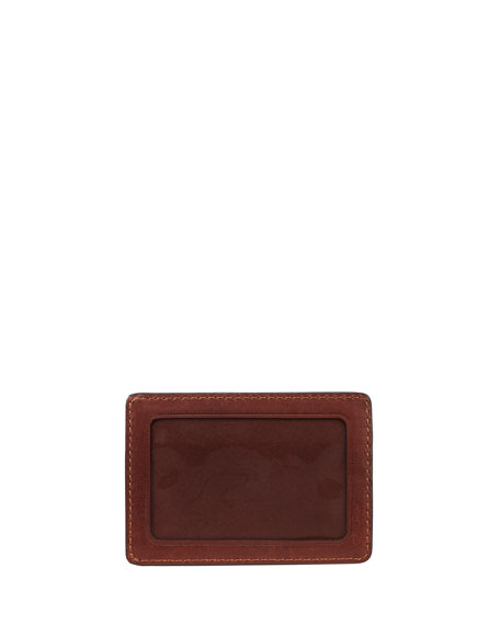Oliver Leather ID Card Case, Light Brown