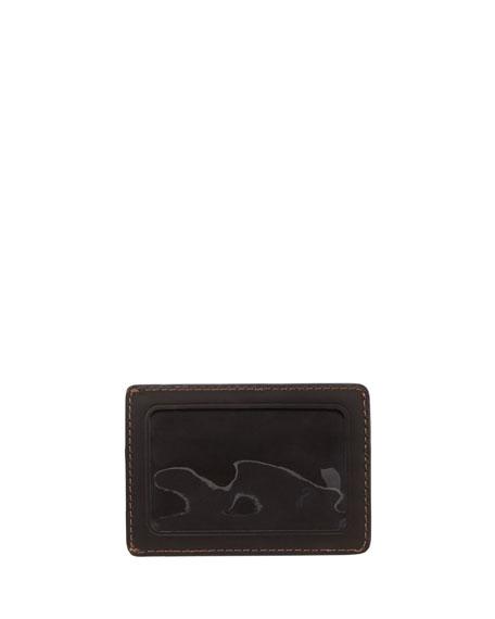Oliver Leather ID Card Case, Dark Brown