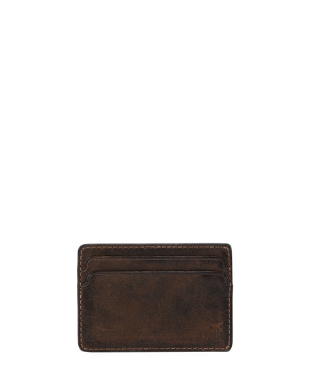 Oliver Leather ID Card Case, Dark Brown