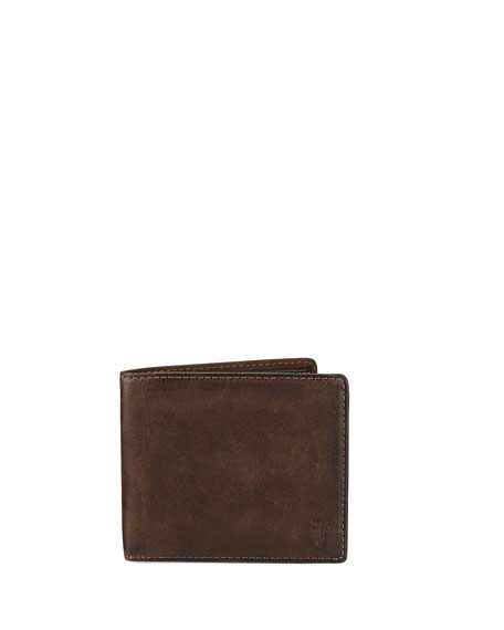 Frye Oliver Leather Billfold Wallet, Dark Brown