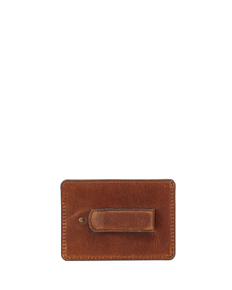 Logan Leather Card Case with Money Clip