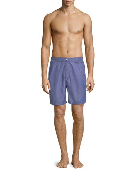 Bigger Boat Embroidered Swim Trunks