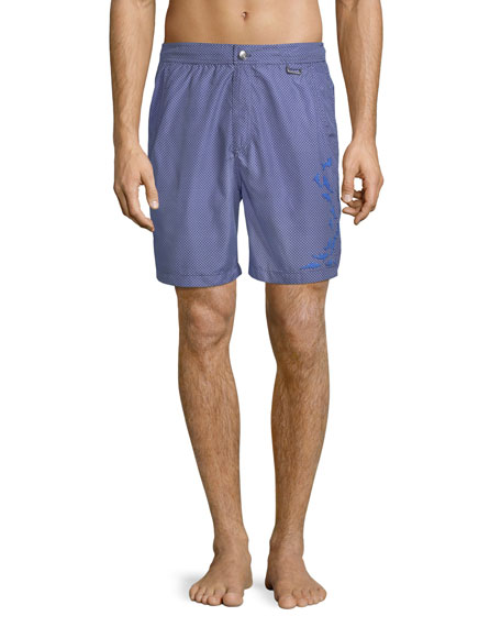 Peter Millar Bigger Boat Embroidered Swim Trunks