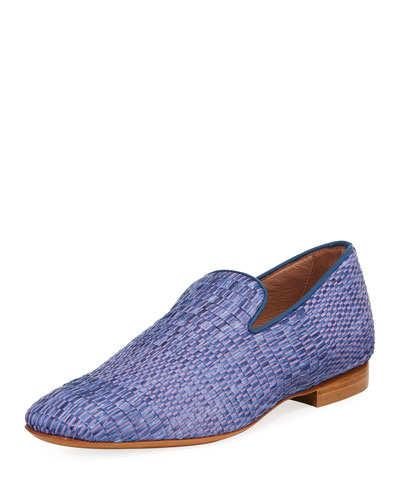 Men's Pazano Woven Straw Loafer